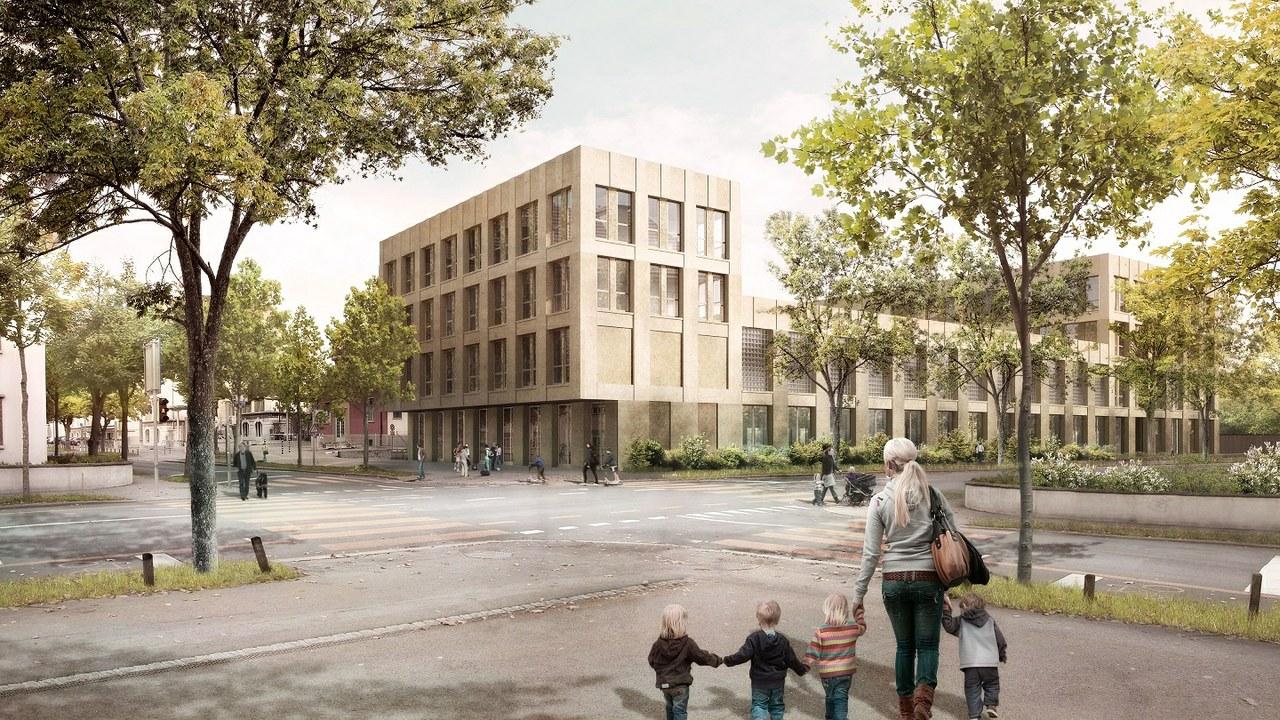 Visualisierung Erweiterung Schule Spitalacker Kast Kaeppeli Architekten