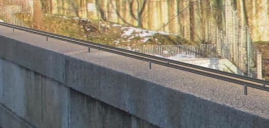 Visualisierung Vierkantprofile auf der Nydeggbrücke
