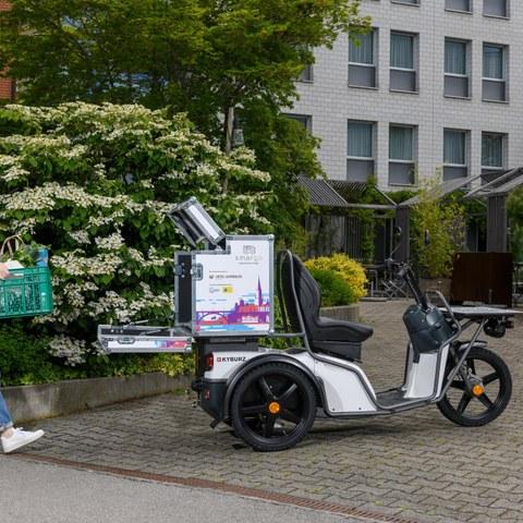 SMARGO Fahrzeug Kyburz Bild Emanuel Freudiger, TCS. Vergrösserte Ansicht