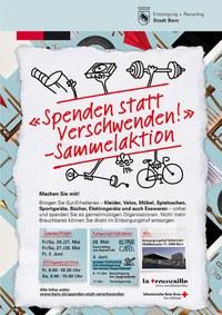 Plakat Aktion «Spenden statt Verschwenden»