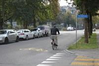 Geändertes Vortrittsregime auf der Velostrasse Beundenfeld-Herzogstrasse Bild Verkehrplanung Stadt Bern