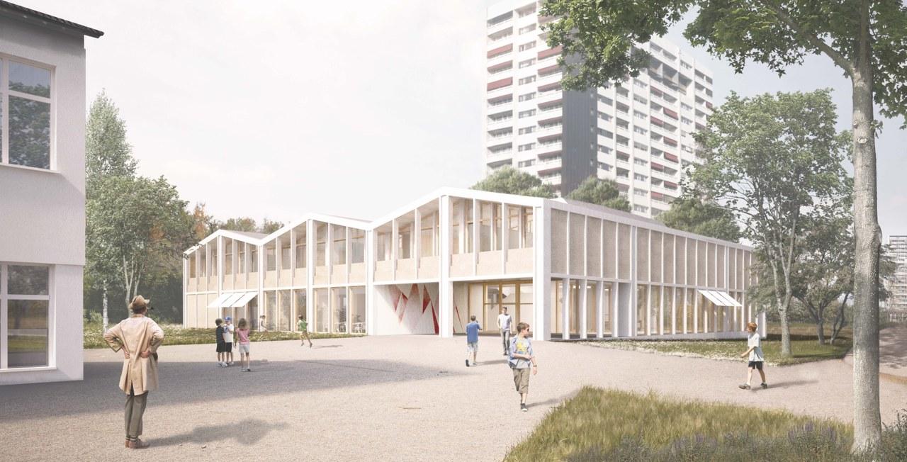 Visualisierung Siegerprojekt «MON ONCLE» des Architektenteams unter der Leitung von Meier Leder Architekten aus Baden