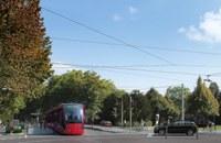 Visualisierung Tram Bern-Ostermundigen, beim Schosshaldenfriedhof