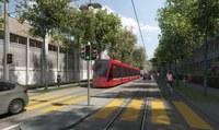 Visualisierung Tram Bern-Ostermundigen, Viktoriastrasse