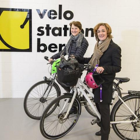 Eröffnung Velostation Schanzenpost Bild 2_Foto Béatrice Devènes. Vergrösserte Ansicht