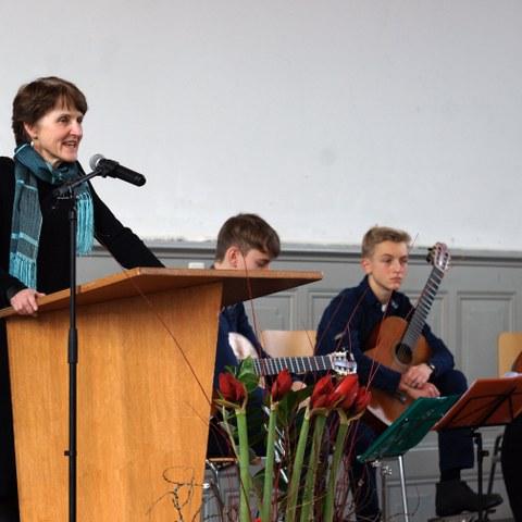 Sozialpreis 2015 Rede Gemeinderätin Franziska Teuscher. Vergrösserte Ansicht