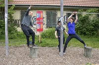 1 Eröffnung BärnParcours mit Franziska Teuscher, Bild: Sportamt der Stadt Bern