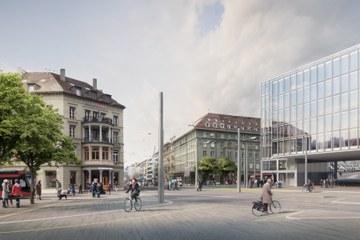 Visualisierung Bubenbergplatz © Nightnurse Images Zürich, im Auftrag des TAB. Vergrösserte Ansicht