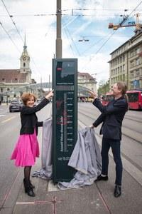 Velobarometer mit Ursula Wyss und Karl Vogel - Hochformat
