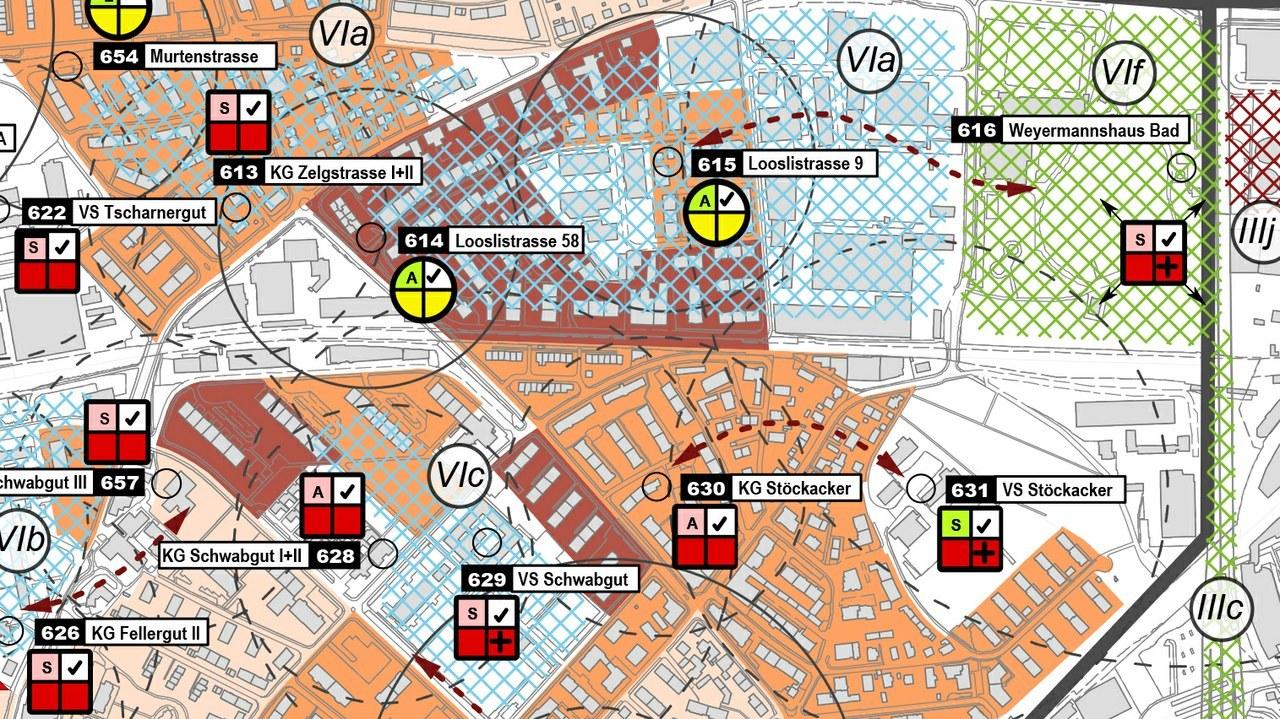 Spielplatzplanung, Ausschnitt Karte