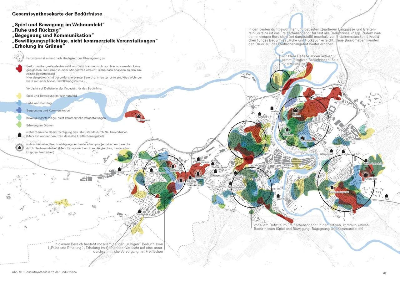 Infrastrukturkarte Freiraumversorgung