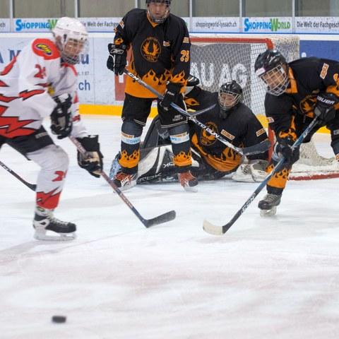 Eishockey. Vergrösserte Ansicht