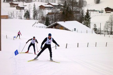 Langlauf Ski. Vergrösserte Ansicht