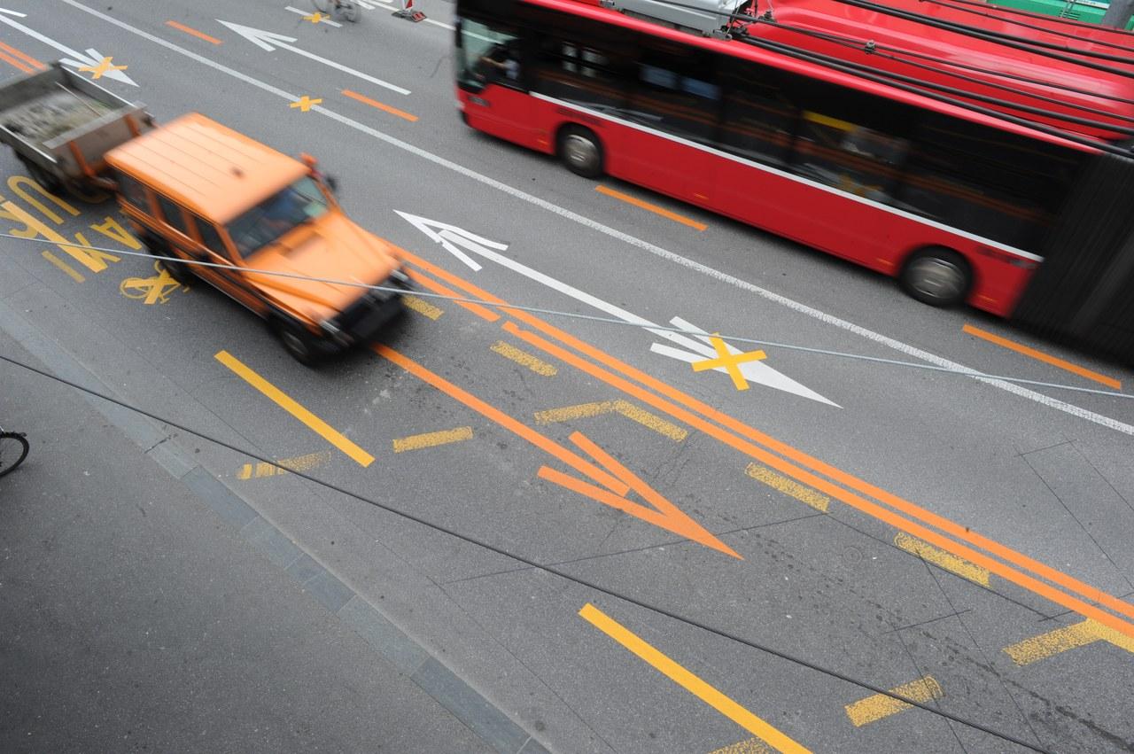 Der Strassenverkehr in der Stadt Bern