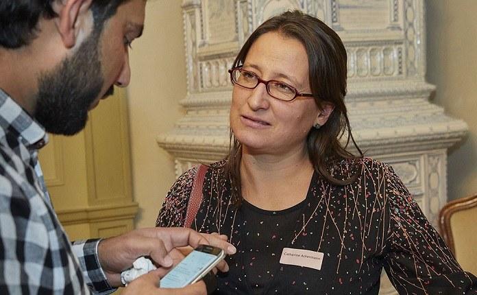 Vernetzerin Catherine Ackermann im Gespräch