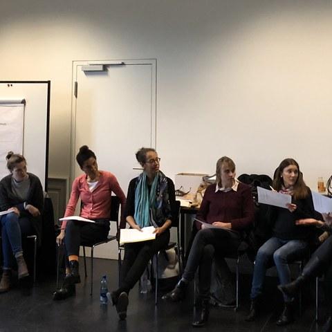 Workshop zum Critical Whiteness (SUB). Vergrösserte Ansicht