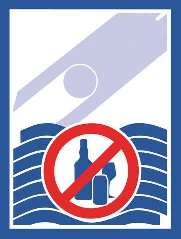 Bild zeigt ein Verbotschild für Alkohol.