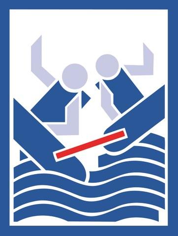 Bild zeigt zwei Boote, die zusammengebunden sind und kentern.