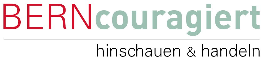 Logo: BERNcouragiert - hinschauen & handeln
