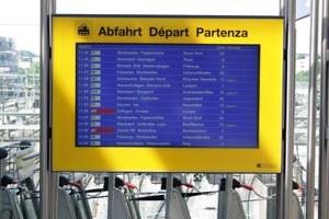 Fahrplan-Bildschirm