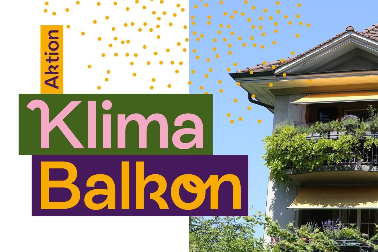 Balkon im Kirchenfeld und Logo KlimaBalkon