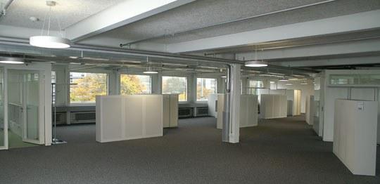Bild von der Entstehung der Inneneinrichtung der Informatikdienste der Stadt Bern