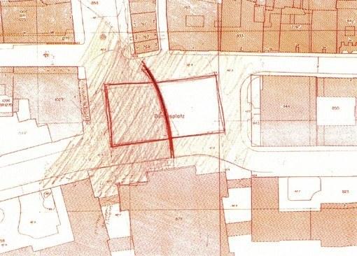 Skizze für die Neugestaltung des Bundesplatzes